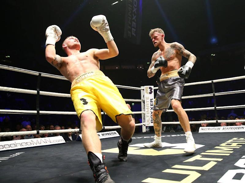 Tom Young stops Isaac Macleod at the first Ultimate Boxxer (Getty)