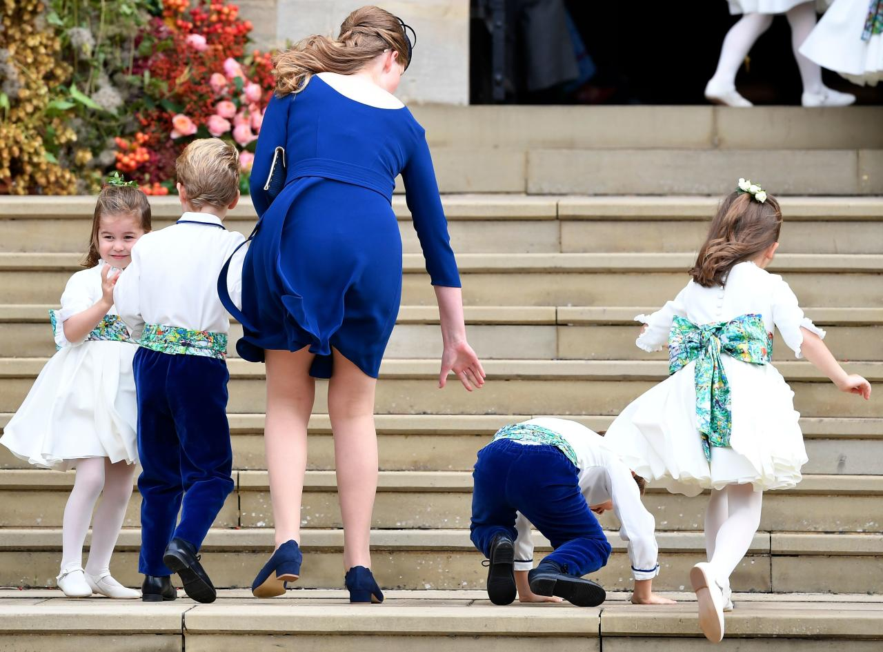 <p>When this pageboy arrived to the wedding already drunk. </p>