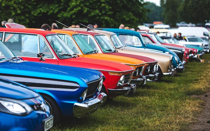 Just a few of the cars lined up on show at Tatton Park in 2018