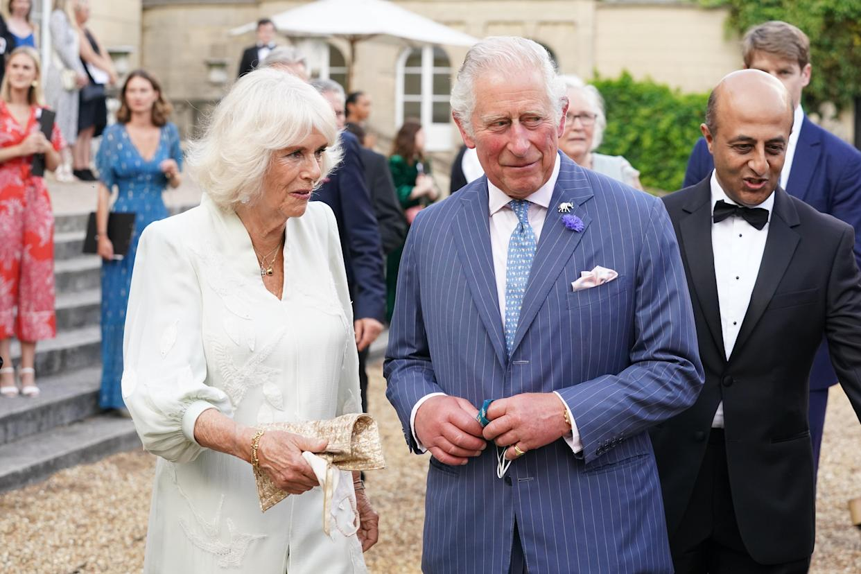 LONDON, ENGLAND - JULY 14: Prince Charles, Prince of Wales and Camilla, Duchess of Cornwall arrive to attend the