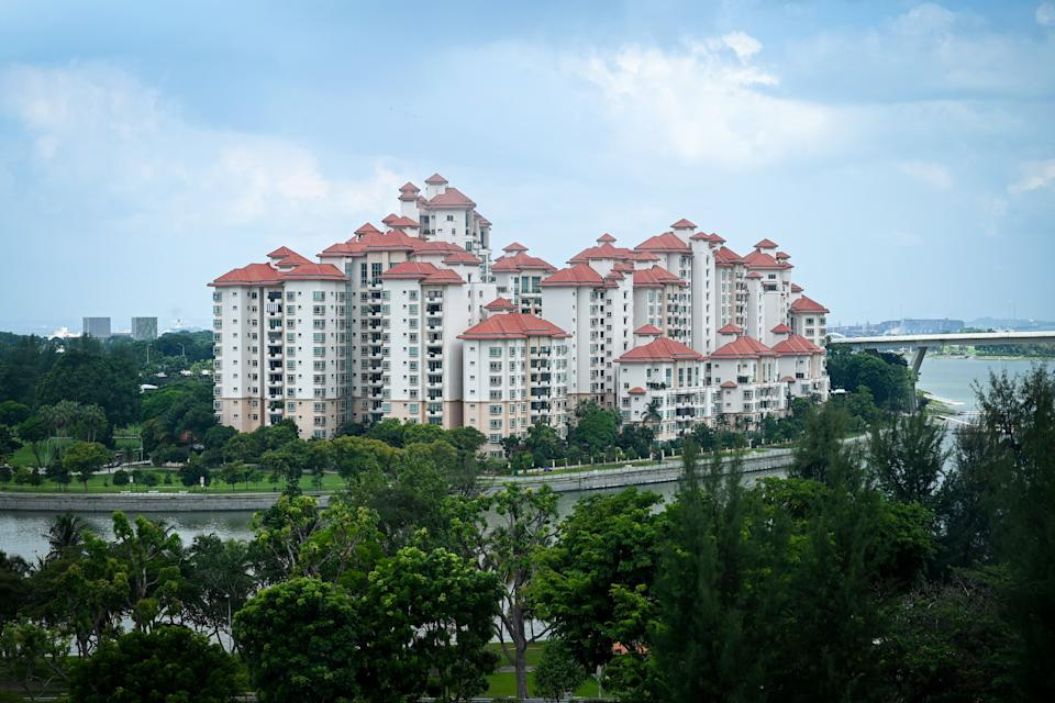 A general view of the Costa Rhu condominium complex is seen in Singapore on July 16, 2021. (Photo by Roslan RAHMAN / AFP) (Photo by ROSLAN RAHMAN/AFP via Getty Images)