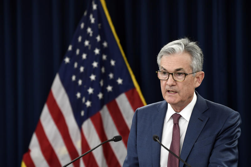 Federal Reserve Chairman Jerome Powell speaks during a news conference in Washington, Wednesday, Oct. 30, 2019. (AP Photo/Susan Walsh)
