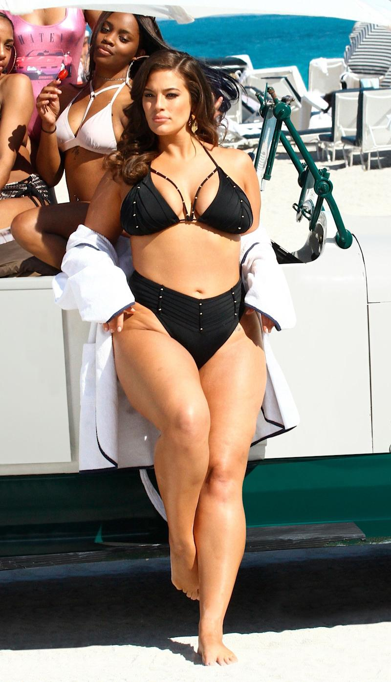 "$120. Get it <a href=""https://www.swimsuitsforall.com/Ashley-Graham-x-Swimsuits-For-All-Whoopee-Bikini#rrec=true"" target=""_blank"">here</a>."