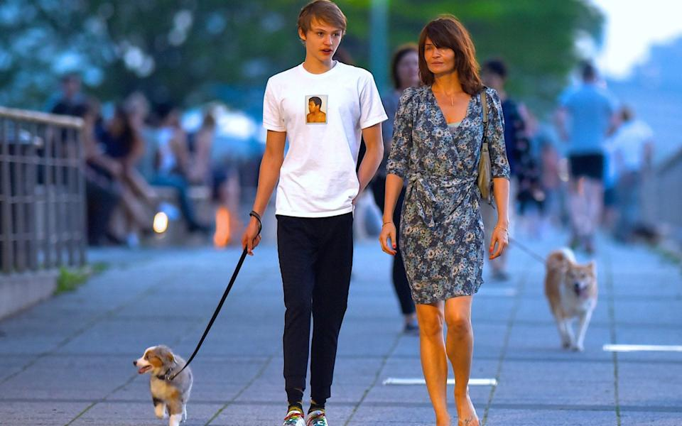 Helena Christensen and her 20-year-old son Mingus - Robert Kamau/GC Images