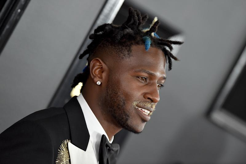Antonio Brown has been out of practice with frostbite on his feet. (Getty Images)