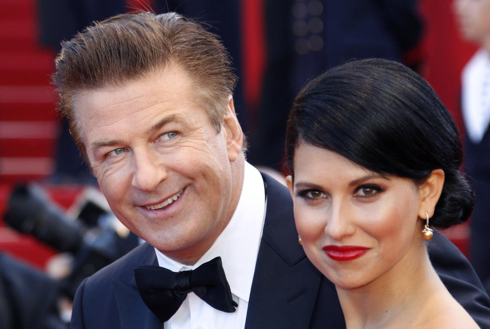 Hilaria Baldwin (pictured with now-husband Alec Baldwin in 2012) is defending herself against claims she's misrepresented her Spanish identity. (Photo: REUTERS/Vincent Kessler)