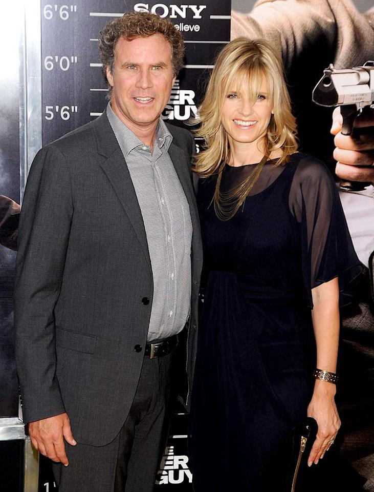 """Funnyman Will Ferrell and his wife Viveca Paulin welcomed their third son Axel on January 23. The little one joined big brothers Magnus and Mattias. Andrew H. Walker/<a href=""""http://www.gettyimages.com/"""" target=""""new"""">GettyImages.com</a> - August 2, 2010"""