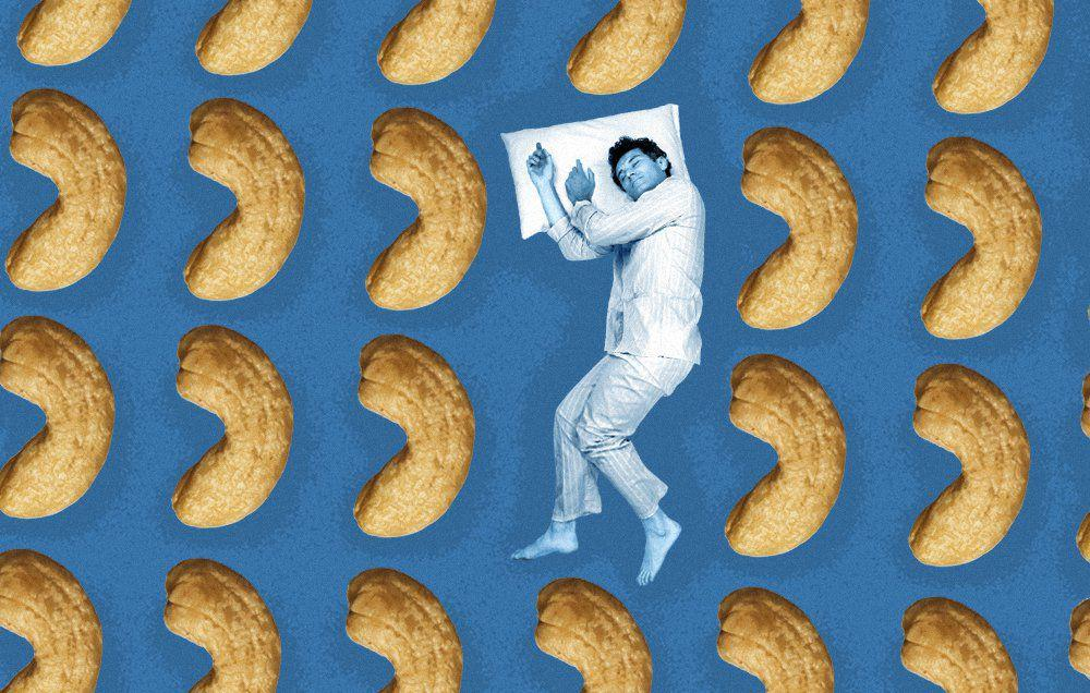 """<p>You already know that if you don't get enough sleep, your health pays the price. Sleep loss can <a rel=""""nofollow"""" href=""""https://www.menshealth.com/health/a19541502/sleep-loss-study-memory-concentration-ucla/"""">ruin your memory and concentration</a>, it can <a rel=""""nofollow"""" href=""""https://www.menshealth.com/health/g19517080/5-ways-lack-of-sleep-makes-you-fat/"""">make you gain weight</a>, and it makes it harder to <a rel=""""nofollow"""" href=""""https://www.menshealth.com/fitness/a20716318/morning-workout-tips/"""">get out of bed early and hit the gym</a>.  </p><p>But even if you're committed to logging the recommended 7 to 8 hours a night in bed, you might still find yourself tossing and turning when the lights go out. You're not alone: Up to 1 in 3 adults say they occasionally experience insomnia, according to the American Academy of Sleep Medicine.</p><p>It's no surprise that certain foods or drinks - think <a rel=""""nofollow"""" href=""""http://www.menshealth.com/health/health-benefits-coffee"""">coffee</a>, alcohol, and even too much sugar - can make your sleep woes worse. But you might not realize that others can actually help you sleep better. </p><p>The oft-touted <a rel=""""nofollow"""" href=""""https://www.menshealth.com/nutrition/a19543268/mediterranean-diet-benefits-entire-body/"""">Mediterranean diet</a> is particularly good for sleep, says Kristen Kizer, R.D., L.D., a registered clinical dietitian at Houston Methodist Hospital. """"A 2018 study showed adherence to the Mediterranean diet was associated with increased sleep quality, which makes sense given with what we know about foods that are bad for sleep,"""" such as refined carbs and sugar, says Kizer.</p><p>Want some more specific recs? Here are just a few sleep-inducing foods and drinks that can help you rest easy.  <br><br></p>"""