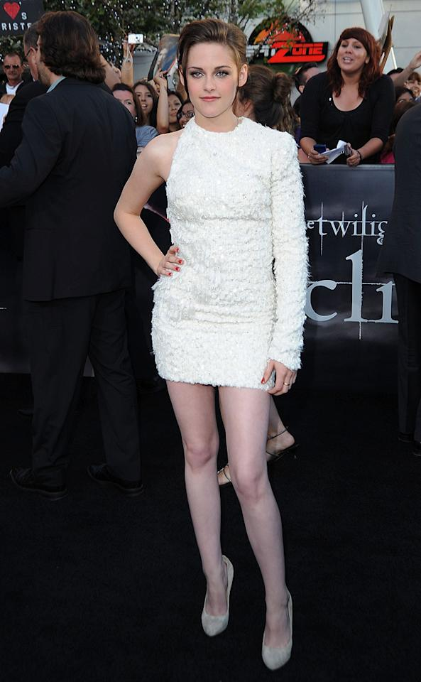"""<a href=""""http://movies.yahoo.com/movie/contributor/1807776250"""">Kristen Stewart</a> at the Los Angeles premiere of <a href=""""http://movies.yahoo.com/movie/1810074301/info"""">The Twilight Saga: Eclipse</a> - 06/24/2010"""