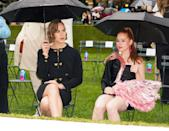 """<p><b><a class=""""link rapid-noclick-resp"""" href=""""https://www.popsugar.com/Riverdale"""" rel=""""nofollow noopener"""" target=""""_blank"""" data-ylk=""""slk:Riverdale"""">Riverdale</a></b>'s Madelaine Petsch sat next to her in the front row to watch the show in Bryant Park.</p>"""