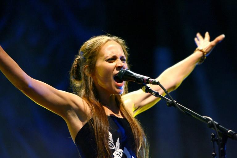 """Fiona Apple, shown here performing in New York in 2007, is up for several Grammys this year after releasing her critically acclaimed record """"Fetch The Bolt Cutters"""""""