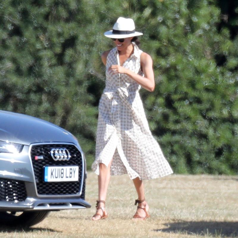 Meghan Duchess Of Sussex Watches Prince Harry Play Polo