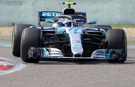 Formula One F1 - Chinese Grand Prix - Shanghai International Circuit, Shanghai, China - April 15, 2018 Mercedes' Valtteri Bottas in action during the race REUTERS/Aly Song