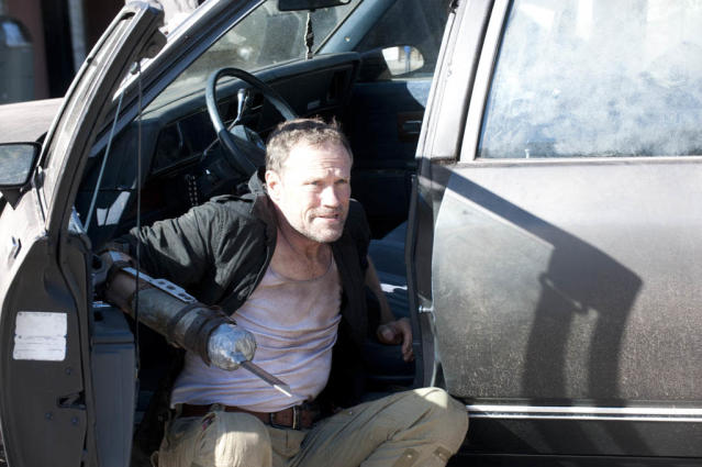"Merle Dixon (Michael Rooker) in ""The Walking Dead"" episode, ""This Sorrowful Life."""