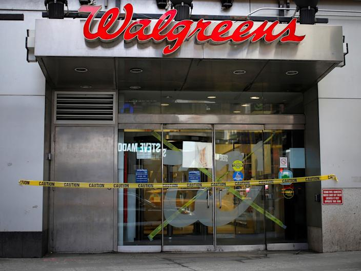 "A shuttered Walgreens location in New York City. <p class=""copyright"">Reuters</p>"