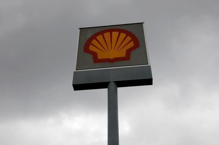 A Shell Petroleum signage is pictured in Malaysia's southern city of Johor Bahru