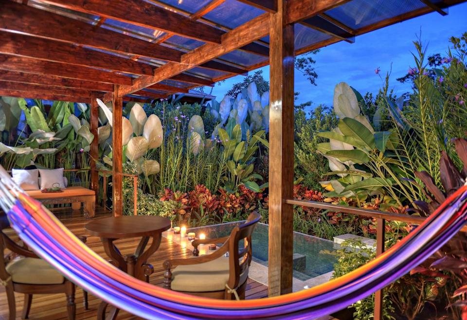 """With 35 villas surrounded by 1,500 square feet of luxury, romance and privacy, <strong><a href=""""https://www.tripadvisor.com/Hotel_Review-g309226-d4367721-Reviews-Nayara_Springs-La_Fortuna_de_San_Carlos_Arenal_Volcano_National_Park_Province_of_Alaju.html"""" target=""""_blank"""" rel=""""noopener noreferrer"""">the Nayara Springs resort</a></strong> offers the ultimate experience for romantic getaways. the rooms include private plunge pools fed by water from the nearby volcano, and each room includes laundry, daily yoga classes and your very own personal host."""