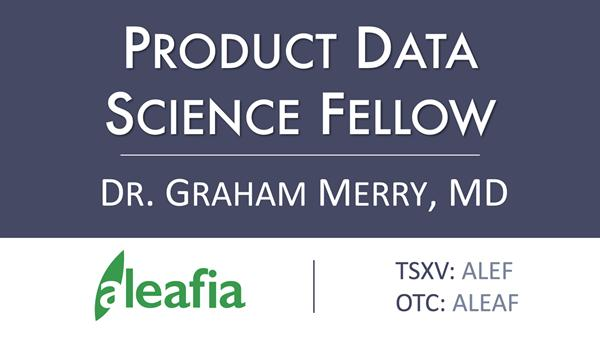 Product Data Science Fellow:Learn more at: www.AleafiaInc.com/Invest