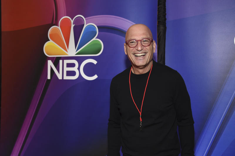 "FILE - In this Monday, May 13, 2019 file photo, Howie Mandel, from the cast of ""America's Got Talent,"" attends the NBC 2019/2020 Upfront at The Four Seasons New York. With the top two most-watched television shows last week, NBC's ""America's Got Talent"" continues its dominance when the heat is on. It's the summer's most-watched television series for six summers in a row. (Photo by Evan Agostini/Invision/AP, File)"