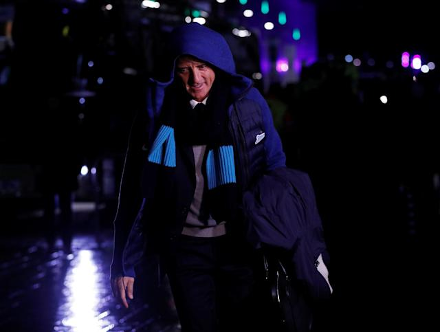 Soccer Football - Europa League Round of 32 First Leg - Celtic vs Zenit Saint Petersburg - Celtic Park, Glasgow, Britain - February 15, 2018 Zenit St. Petersburg coach Roberto Mancini before the match Action Images via Reuters/Lee Smith