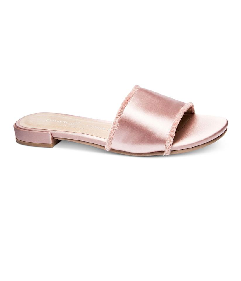 "<p>Chinese Laundry Pretty-Slip On Flat Sandals, $50, <a rel=""nofollow"" href=""https://www.macys.com/shop/product/chinese-laundry-pretty-slip-on-flat-sandals?ID=4732539&cm_mmc=Polyvore-_-Polyvore_Women+Shoes_PLA-_-n-_-sandals"">macys.com</a> </p>"