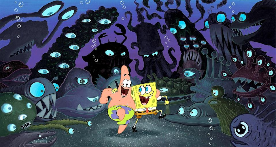 """<p><strong>HBO Max's Description:</strong> """"Mr. Krabs stands accused of stealing King Neptune's crown! Can SpongeBob and his trusty sidekick Patrick get to the bottom of the mystery and clear the Krusty Krab owner's name? The laughs and excitement never stop in this fun-filled animated feature.""""</p> <p><a href=""""https://play.hbomax.com/feature/urn:hbo:feature:GXTotiA6F_FzCNQEAAFbV"""" class=""""link rapid-noclick-resp"""" rel=""""nofollow noopener"""" target=""""_blank"""" data-ylk=""""slk:Watch The SpongeBob SquarePants Movie on HBO Max"""">Watch <strong>The SpongeBob SquarePants Movie</strong> on HBO Max</a> before it leaves the service in September.</p>"""
