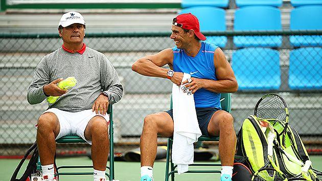 Toni Nadal didn't tell Rafael of his decision to quit. Pic: Getty