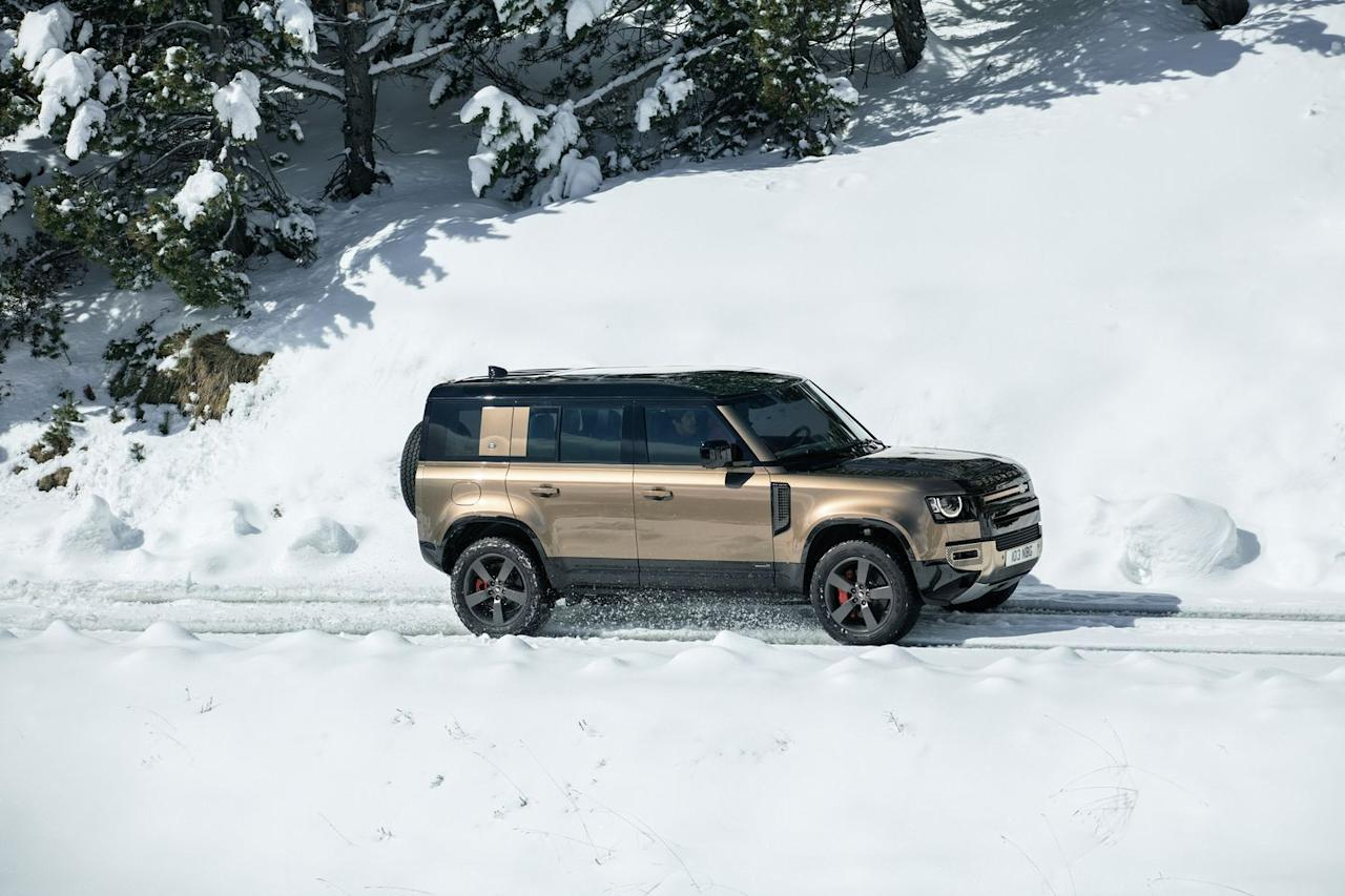 <p>This is the four-door Defender 110, which will be the first to arrive in the U.S.</p>