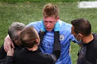 Manchester City saw skipper Kevin De Bruyne forced off injured in the second half