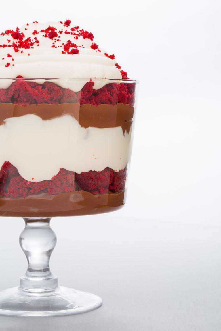 """<p>This bright red trifle evokes the spirit of the holiday, and the taste is like a firework explosion of awesomeness. This will be your new favorite dessert. </p><p><strong><em>Get the recipe at <a href=""""https://www.delish.com/cooking/recipe-ideas/recipes/a44587/red-velvet-ganache-trifle-recipe/?zoomable"""" rel=""""nofollow noopener"""" target=""""_blank"""" data-ylk=""""slk:Delish"""" class=""""link rapid-noclick-resp"""">Delish</a>. </em></strong></p>"""
