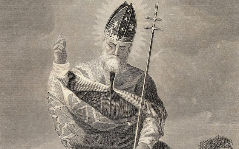 St Patrick, the patron saint of Ireland - Bettmann