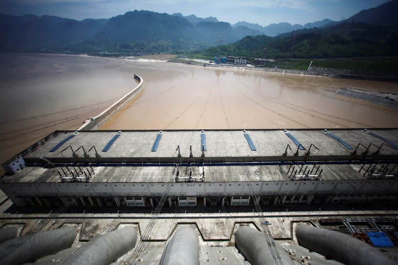 FILE PHOTO: A view from the Three Gorges dam over the Yangtze River in Yichang