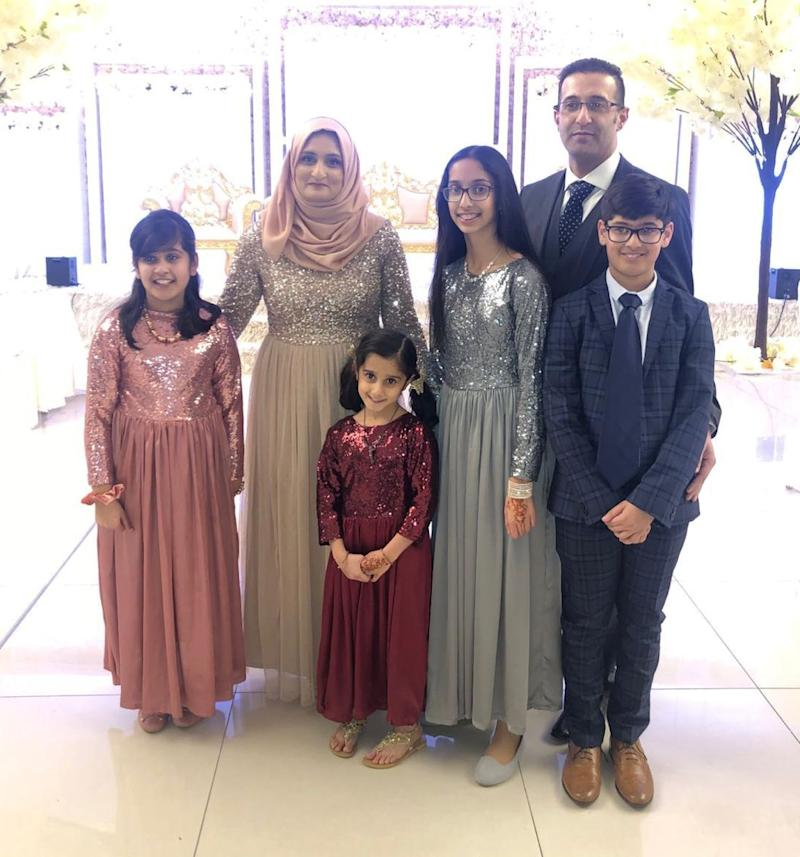 Aksa Khan with her husband Waseem and their four children (Photo: Aksa Khan)