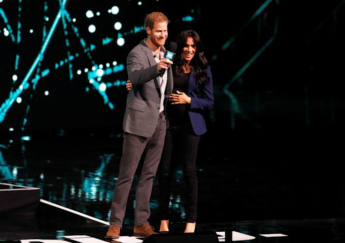 Harry and Meghan attend the WE Day UK event in Wembley, London.