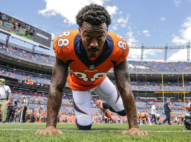 Demaryius Thomas has been largely — shockingly — unproductive this fantasy season. (AP Photo/Jack Dempsey, File)