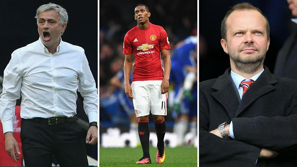 Centre of the Old Trafford storm: Mourinho, Martial, Woodward