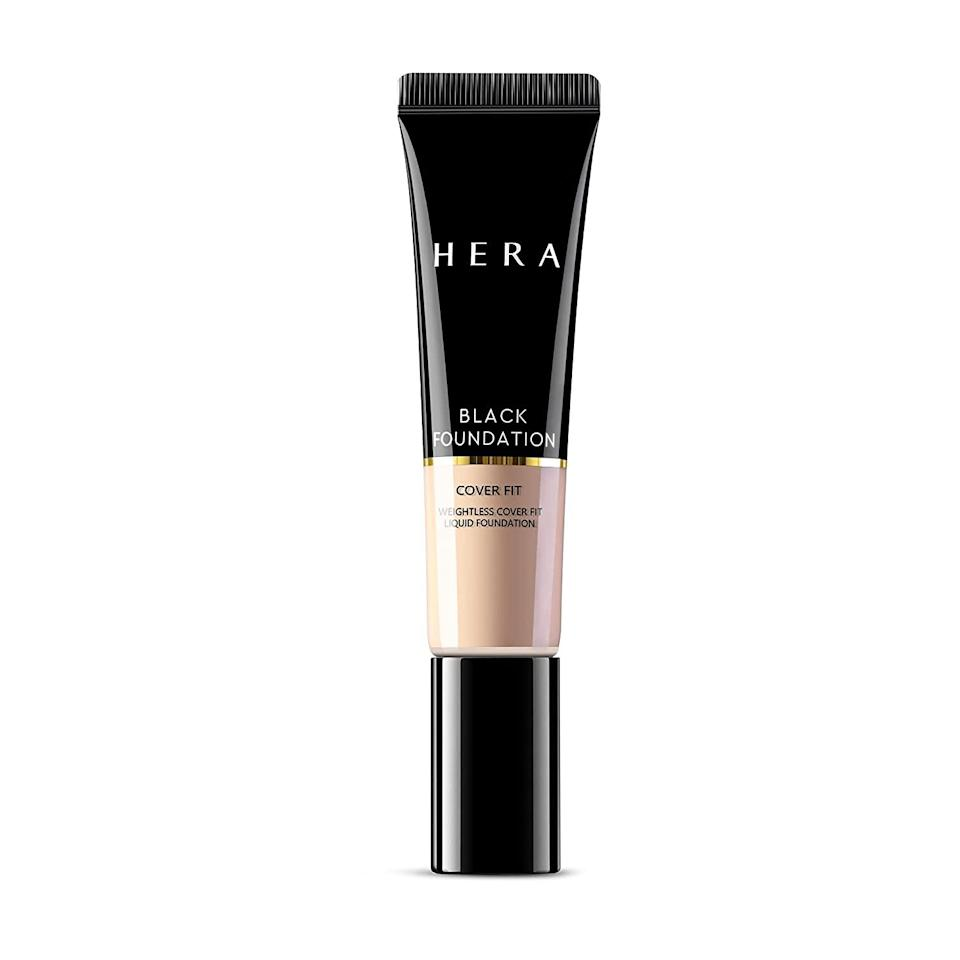 """<p>Right off the heels of its U.S. debut, <a href=""""https://www.allure.com/story/hera-korean-makeup-launch-amazon-store-jennie-blackpink?mbid=synd_yahoo_rss"""" rel=""""nofollow noopener"""" target=""""_blank"""" data-ylk=""""slk:luxury K-beauty brand Hera"""" class=""""link rapid-noclick-resp"""">luxury K-beauty brand Hera</a> has officially made its Black Foundation Cover Fit available to shop stateside. Our colleagues over at <a href=""""https://www.allure.com/gallery/allure-korea-best-of-beauty?mbid=synd_yahoo_rss"""" rel=""""nofollow noopener"""" target=""""_blank"""" data-ylk=""""slk:Allure Korea"""" class=""""link rapid-noclick-resp""""><em>Allure</em> Korea</a> have already given their stamp of approval — calling out its long-lasting, semi-matte, and no-fade formula spiked with hydrating hyaluronic acid. Also new to Amazon is the ultra-dense <a href=""""https://www.amazon.com/HERA-Foundation-Brush-Liquid-Makeup/dp/B08WWSQ595"""" rel=""""nofollow noopener"""" target=""""_blank"""" data-ylk=""""slk:Foundation Brush"""" class=""""link rapid-noclick-resp"""">Foundation Brush</a>, which will buff Cover Fit to perfection. Here's to hoping Hera will expand its shade range (which currently stands at six) very soon, so <a href=""""https://www.allure.com/gallery/makeup-brands-wide-foundation-shade-ranges?mbid=synd_yahoo_rss"""" rel=""""nofollow noopener"""" target=""""_blank"""" data-ylk=""""slk:deeper skin tones"""" class=""""link rapid-noclick-resp"""">deeper skin tones</a> can benefit from this innovative liquid-to-powder product.</p> <p>(P.S. Through May 8, Amazon shoppers score an additional 10 percent off the full Hera collection — including <a href=""""https://www.allure.com/story/jennie-blackpink-blonde-hair-color-first-time?mbid=synd_yahoo_rss"""" rel=""""nofollow noopener"""" target=""""_blank"""" data-ylk=""""slk:Blackpink member Jennie"""" class=""""link rapid-noclick-resp"""">Blackpink member Jennie</a>'s favorite lipsticks — using code <strong>HERA4MOM</strong>.)</p>"""
