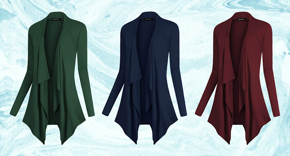 Amazon's #1 best-selling cardigan has you covered. (Credit: Amazon)