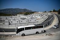The Samos camp will serve as a pilot for the other so-called closed and controlled access facilities (AFP/LOUISA GOULIAMAKI)