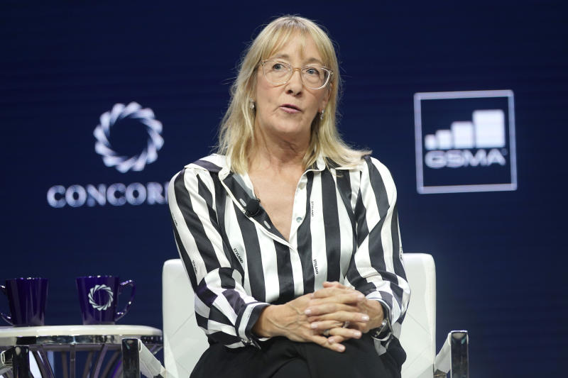 NEW YORK, NEW YORK - SEPTEMBER 24: Marisa Drew, CEO, Impact Advisory and Finance Department, Credit Suisse, speaks onstage during the 2019 Concordia Annual Summit - Day 2 at Grand Hyatt New York on September 24, 2019 in New York City. (Photo by Riccardo Savi/Getty Images for Concordia Summit)