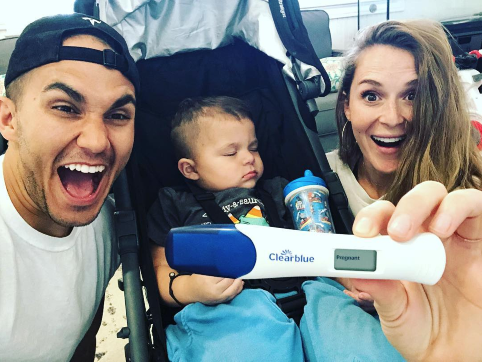 """<p>The <em>Spy Kids</em> star and Big Time Rush alum were stoked to share in January 2019 they were <a href=""""https://www.seventeen.com/celebrity/celebrity-couples/a25950571/carlos-and-alexa-penavega-second-baby-announcement/"""" rel=""""nofollow noopener"""" target=""""_blank"""" data-ylk=""""slk:expecting their second child"""" class=""""link rapid-noclick-resp"""">expecting their second child</a>.</p><p>""""Holy Moly!!! Guys!!! We are having another baby!!!! Do we wake Ocean up and tell him??!! Beyond blessed and excited to continue growing this family!!! Get ready for a whole new set of adventures!!!"""" <a href=""""https://www.instagram.com/p/BswONZxFJwC/"""" rel=""""nofollow noopener"""" target=""""_blank"""" data-ylk=""""slk:Alexa 'grammed"""" class=""""link rapid-noclick-resp"""">Alexa 'grammed</a>.<br></p><p>Meanwhile, Carlos happily <a href=""""https://www.instagram.com/p/BswOY0jhKiJ/"""" rel=""""nofollow noopener"""" target=""""_blank"""" data-ylk=""""slk:captioned on Instagram"""" class=""""link rapid-noclick-resp"""">captioned on Instagram</a>, """"It's HAPPENING... AGAIN! WE'RE HAVING ANOTHER BABY!!! 2019 another PenaVega is joining the family! This year we will officially be able to say we have 'kids'! Our minds are blown and we are beyond blessed and excited for our growing family!!! Let the journey begin!!!""""</p><p>The <a href=""""https://www.youtube.com/user/CarlosPenaTV"""" rel=""""nofollow noopener"""" target=""""_blank"""" data-ylk=""""slk:vlogging couple"""" class=""""link rapid-noclick-resp"""">vlogging couple</a> later <a href=""""https://www.instagram.com/p/BvjbReyAYpV/"""" rel=""""nofollow noopener"""" target=""""_blank"""" data-ylk=""""slk:revealed"""" class=""""link rapid-noclick-resp"""">revealed</a> their son, Ocean, will be a big brother to Kingston.</p>"""