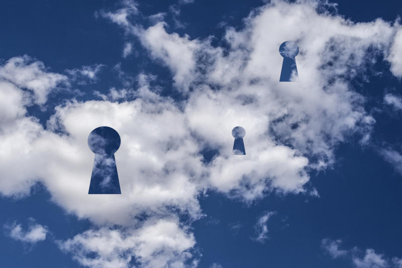 Clouds with keyholes.