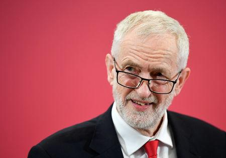 FILE PHOTO: Britain's opposition Labour Party leader Jeremy Corbyn speaks at the launch of Labour's European election campaign in Kent, Britain, May 9, 2019. REUTERS/Toby Melville