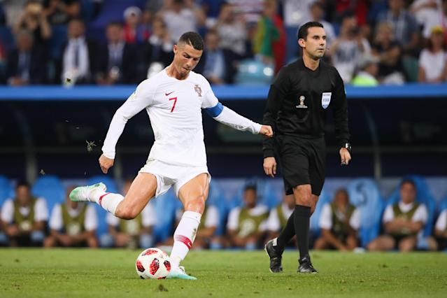 Ronaldo has become known for free-kick technique. (Credit: Getty Images)