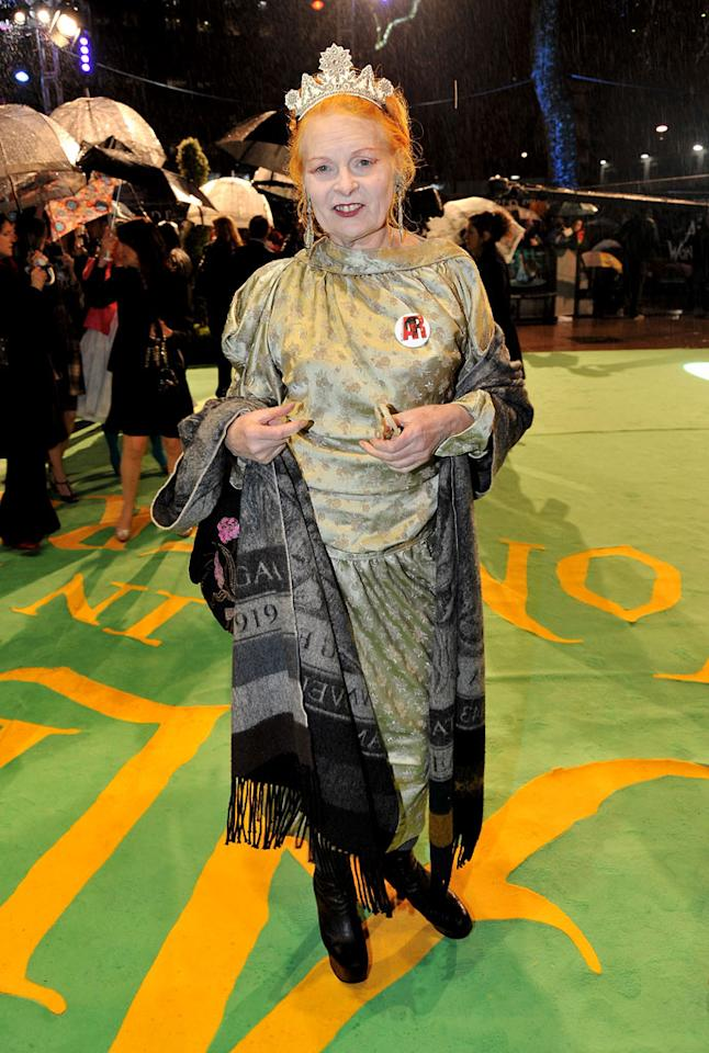 "<a href=""http://movies.yahoo.com/movie/contributor/1800304959"">Vivienne Westwood</a> at the London premiere of <a href=""http://movies.yahoo.com/movie/1810078365/info"">Alice in Wonderland</a> - 02/25/2010"