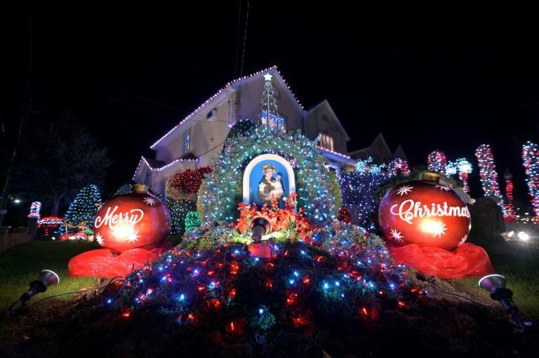 Not even a pandemic can keep the festive spirit down in Brooklyn's illuminated Dyker Heights