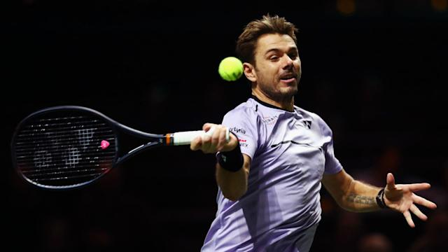 Milos Raonic or Philipp Kohlschreiber await Stan Wawrinka in the second round of the Rotterdam Open after he beat Benoit Paire.