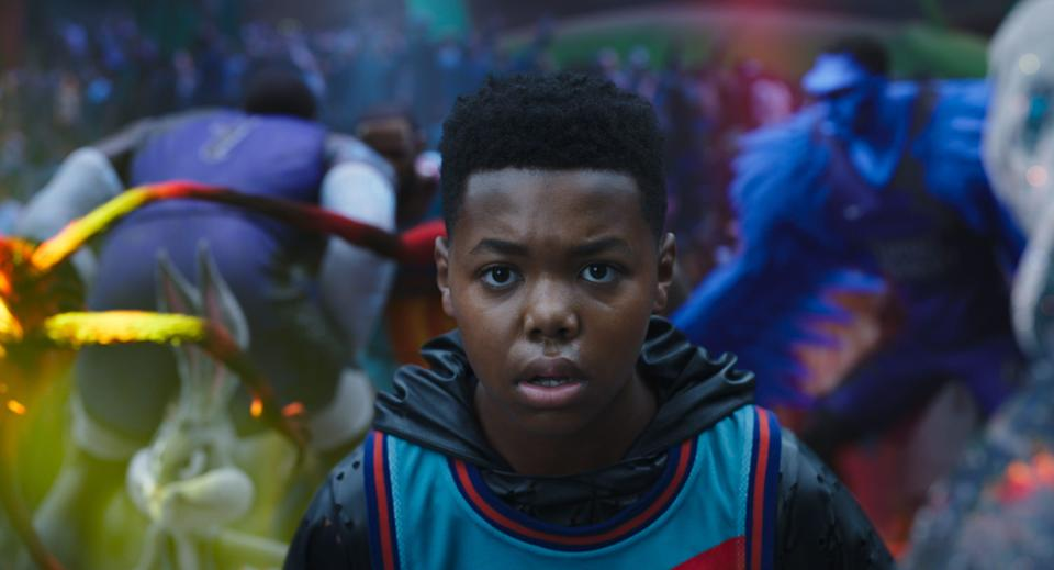 """Cedric Joe as Dom James in """"Space Jam: A New Legacy."""""""