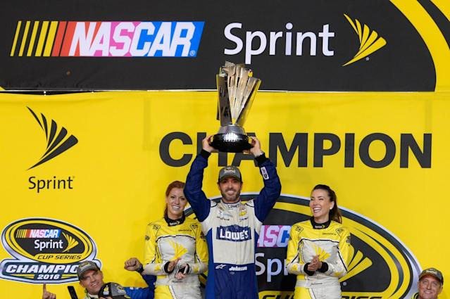 Jimmie Johnson has won seven Cup titles in 14 seasons. (Getty)