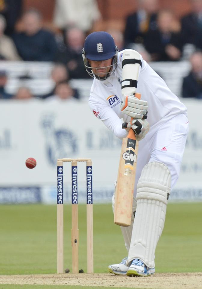 England's Graeme Swann is caught behind for 5 during the first test at Lord's Cricket Ground, London.